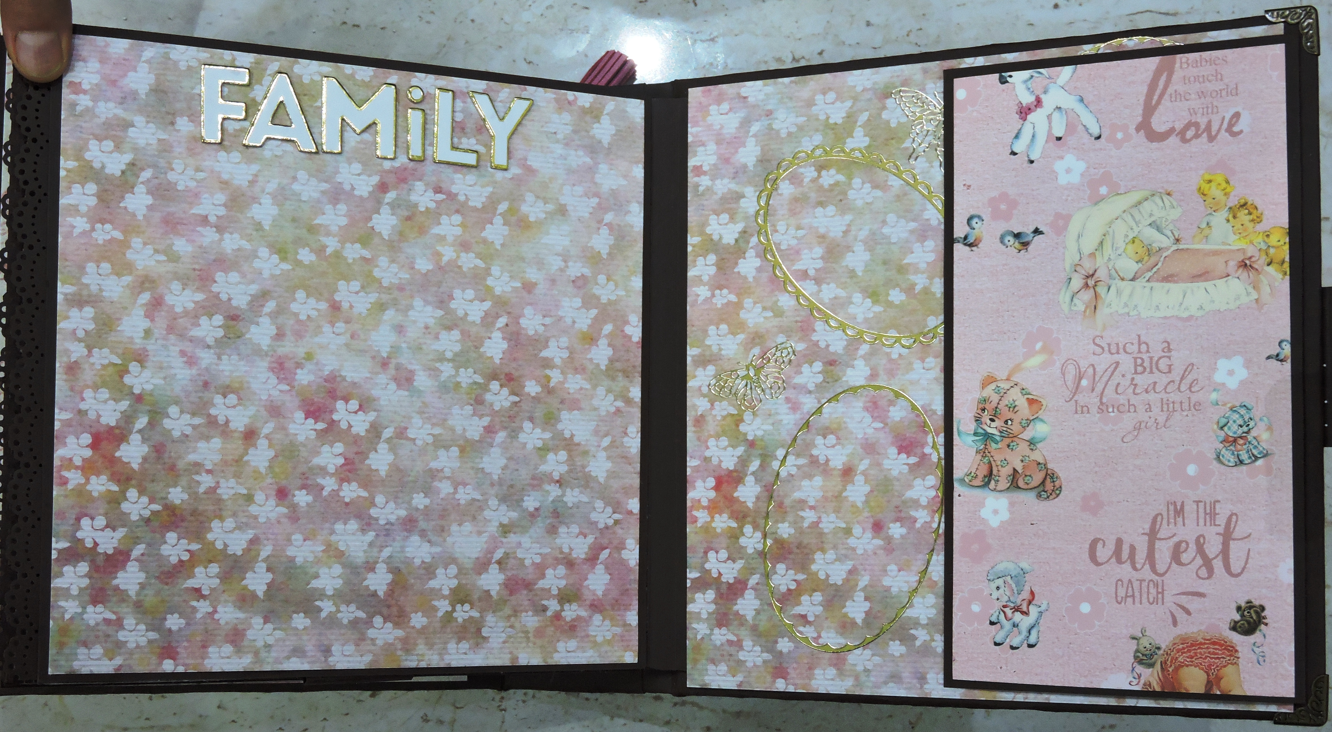 learn to make and customize scrap book album for new born baby girl