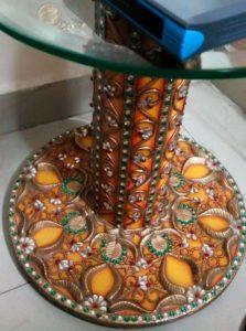 Indian Classical: High Gloss Meenakari Side Table