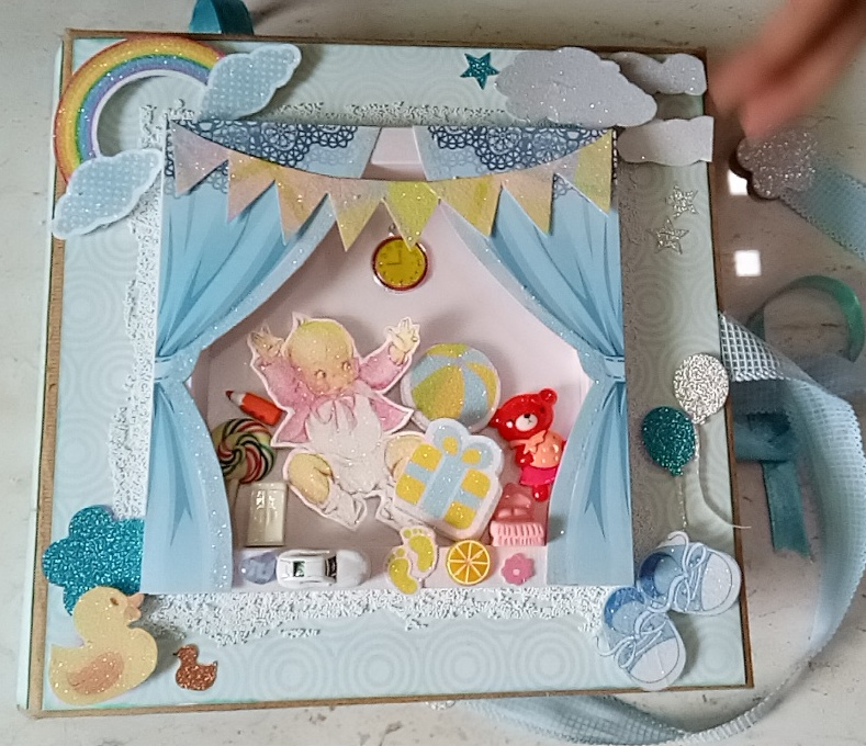 customized hand made scrap booking album for new born baby boy