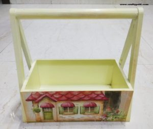DECOUPAGE WOODEN DECORATIVE TRAYS